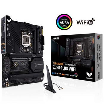 TUF GAMING Z590-PLUS WIFI ASUS, 1*NVME G4, 4DDR4, 2ARGB/2R