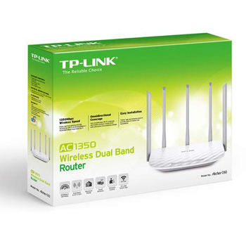 ROUTER TP-LINK DB WIRELESS AC 1350MBPS LAN 10/100 ARCHER 60