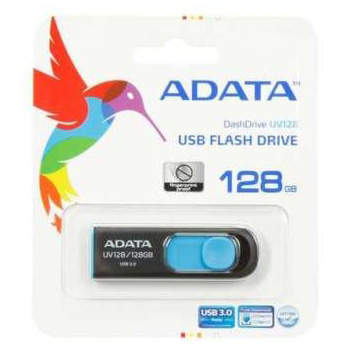 FLASH MEMORY 128GB USB3.0 ADATA UV128 BLACK/BLUE