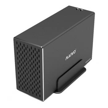 CAIXA EXTERNA PARA 2 DISCOS 3.5 SATA USB 3.1 5GB PRETA