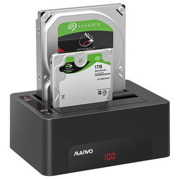 DOCKING STATION P/ 2 DISCOS RIGIDOS 2.5/3.5 USB 3.0 - MAIWO