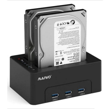 DOCKING STATION P/DISCOS RIGIDOS 2.5/3.5 SATA 3 USB3.1-MAIWO