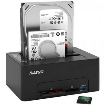 DOCKING STATION P/DISCOS RIGIDOS 2.5/3.5 SATA USB 3.1 LEITOR