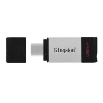 FLASH MEMORY 32GB USB3.2GEN1 KINGSTON DATATRAVELER80 USB-C