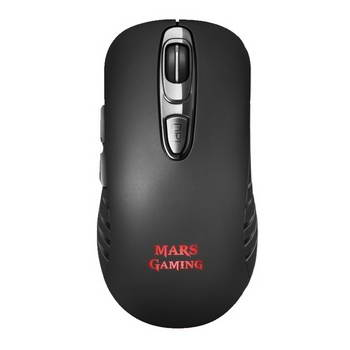 RATO GAMER OPTICO SEM FIOS 3200DPI MARSGAMING MMW2 PRETO