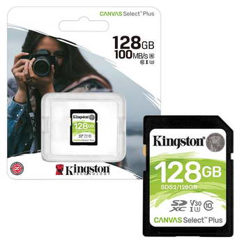 CARTAO SDHC 128GB U1 CL10 KINGS CANVAS SELECT PLUS