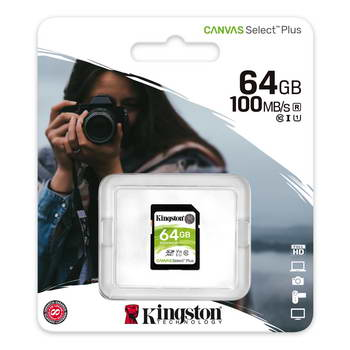 CARTAO SDHC 64GB U1 CL10 KINGS CANVAS SELECT PLUS